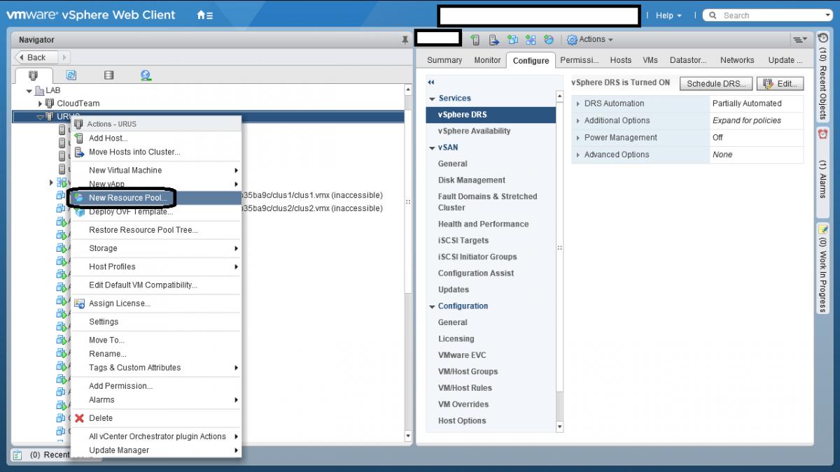 1 Resource Pool در VMWare vSphere ESXI