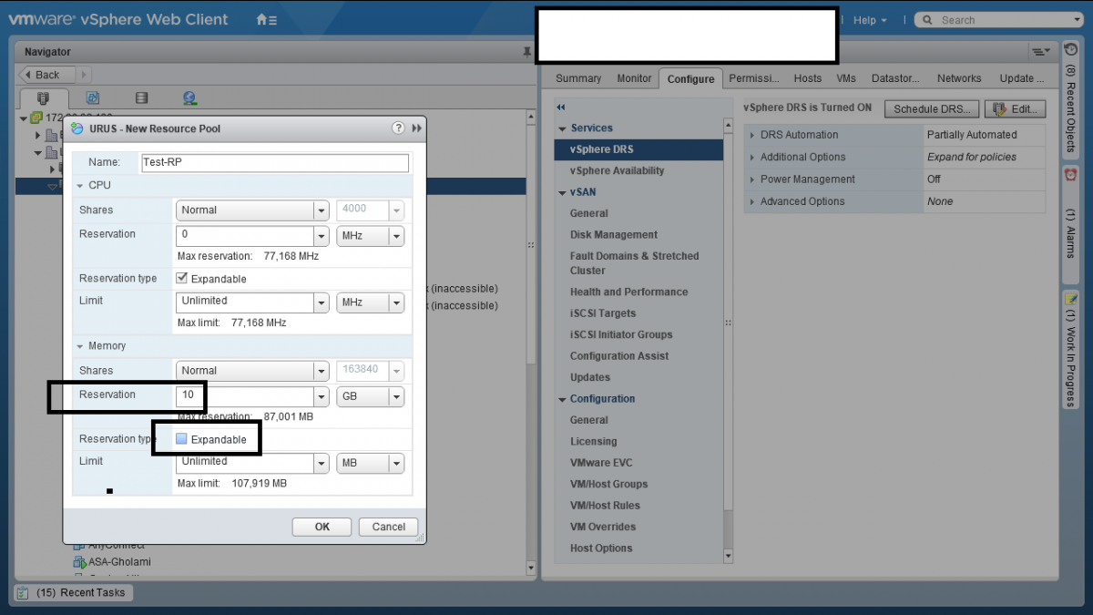 2 Resource Pool در VMWare vSphere ESXI