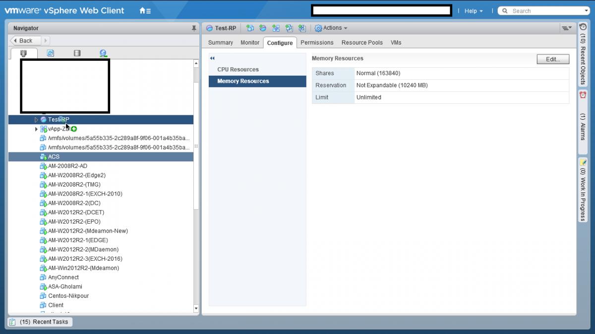 3 Resource Pool در VMWare vSphere ESXI